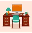 work station vector image