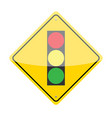 Traffic Lights Ahead Sign vector image