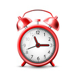 image of a red alarm clock vector image vector image