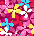 Abstract simple line floral seamless pattern vector image vector image