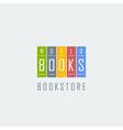 bookstore logo template vector image vector image