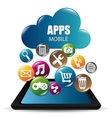 e-commerce and market mobile applications design vector image