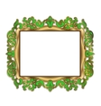 gold green frame vector image