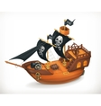 Pirate ship icon vector image vector image