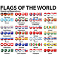 Round and square icons of flags of the world vector image vector image