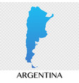 argentina map in south america continent design vector image