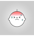 Baby sick icon vector image