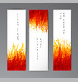 banners with flame on white background place for vector image
