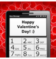 Happy Valentines Day SMS vector image