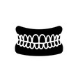 jaw with teeth - human jaw icon vector image