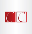 letter c icons character symbol design vector image