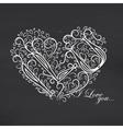 Love you Blackboard background vector image