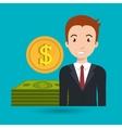 man dollar money vector image