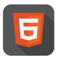 web development shield sign - html6 vector image