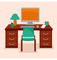 work station vector image