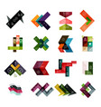 set of abstract geometrical infographic diagram vector image vector image