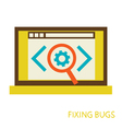 process of fixing bugs vector image