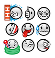 grey round smileys set three vector image vector image