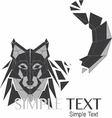 Geometric Wolf Logo or Husky 01 vector image