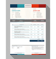 Customizable Invoice Form Template Design vector image