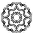 Futuristic round pattern vector image