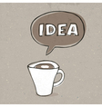 cup of idea vector image