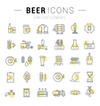 Set Line Icons Beer vector image