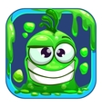 App icon with funny green slimy monster vector image
