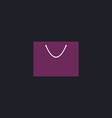 bag computer symbol vector image