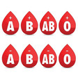 blood group set icon vector image