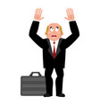 businessman case and fear dread of boss for money vector image