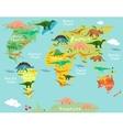 Cartoon map vector image