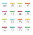 fabric care symbols vector image