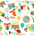 Happy Birthday party seamless pattern vector image