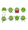 happy watermelon cartoon character vector image