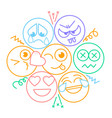 icon with smiles and emotions vector image