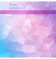 Mosaic abstract background with triangles vector image