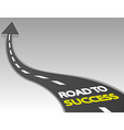 Road to success vector image