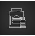 Supplements jars flat line icon vector image