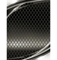 Wire mesh black background vector image vector image