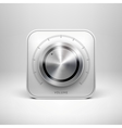 Technology Icon with Metal Textured Knob vector image vector image