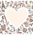 i love france sketch for your design vector image vector image