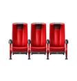 row of cinema seats vector image