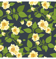 Wild Roses Retro Pattern vector image vector image