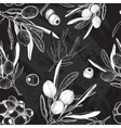 Chalkboard Seamless Olive Pattern vector image