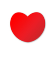 Cute red heart on white background vector image