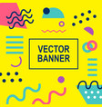 memphis style banner template vector image