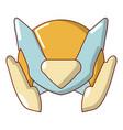 motorcycle helmet design icon cartoon style vector image