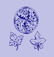 ornament sketch vector image