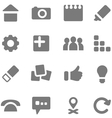 Set of simple gray icons for design vector image